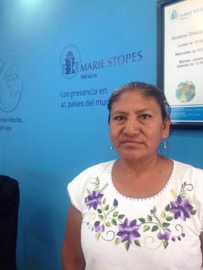 Partera Rosalinda Pérez de Marie Stopes