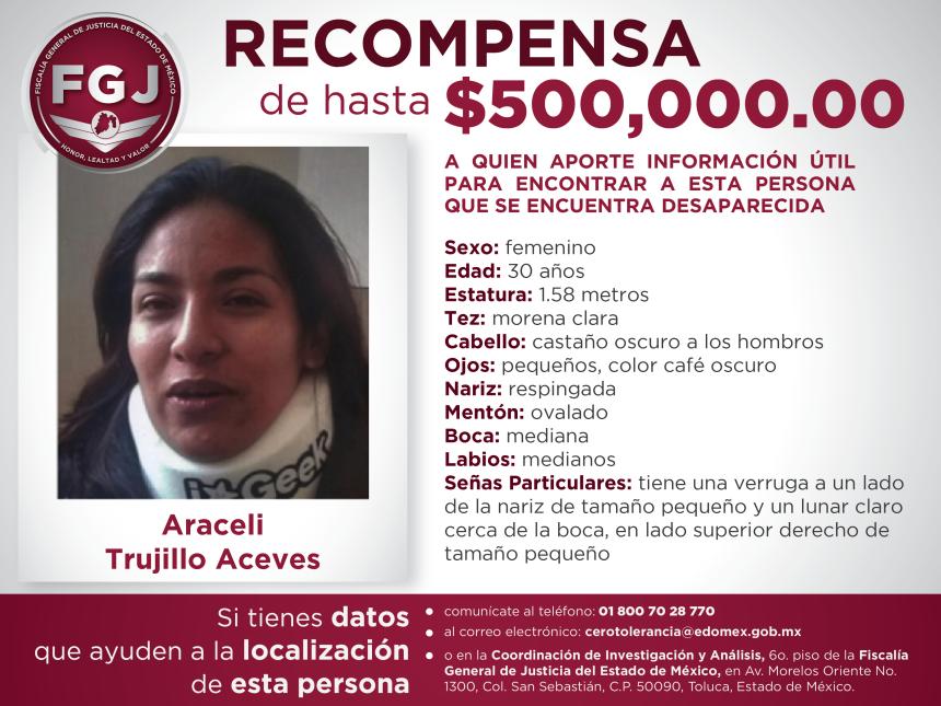 Recompensa Araceli Trujillo Aceves-01
