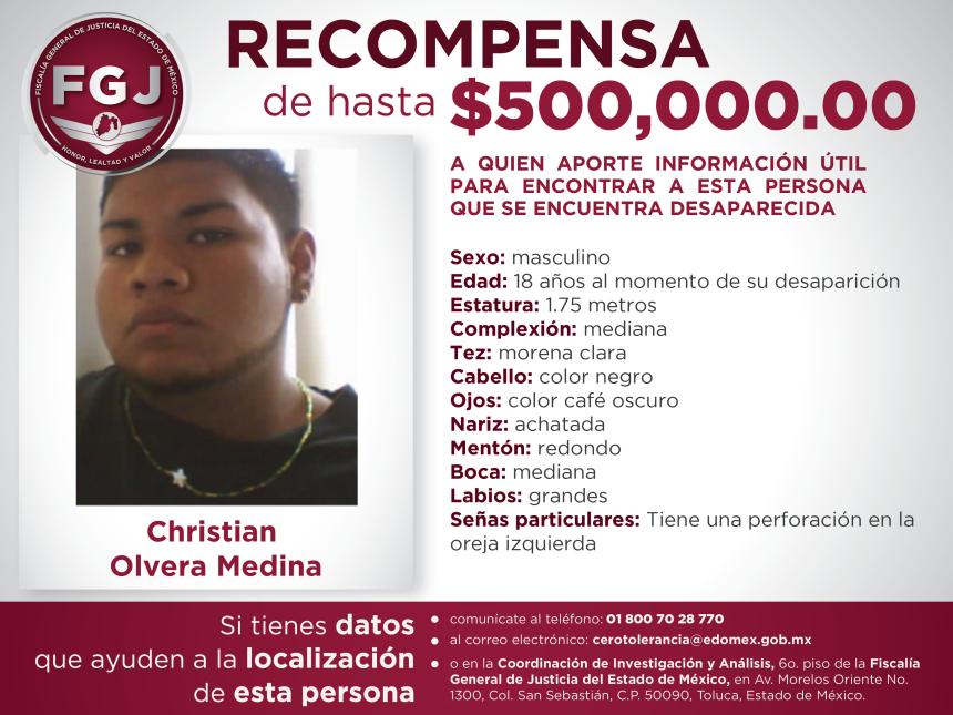 Recompensa Christian Olvera Medina-01