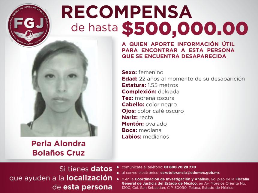 Recompensa Perla Alondra Bolaños Cruz-01